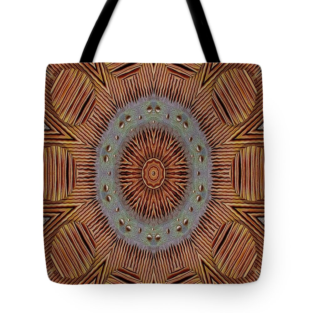 Wooden Tote Bag featuring the mixed media In Japan Style by Pepita Selles