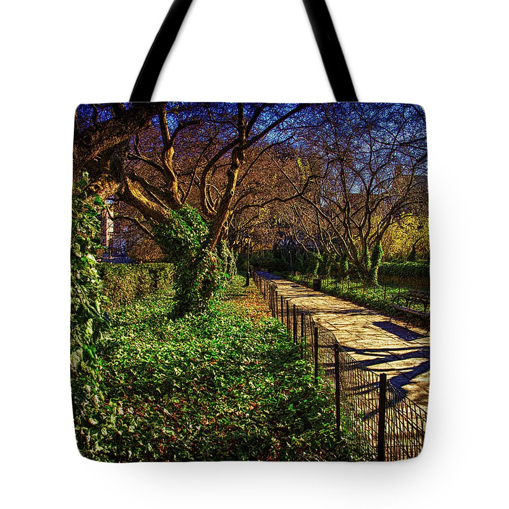 Conservatory Tote Bag featuring the photograph In The Conservatory Garden by Chris Lord