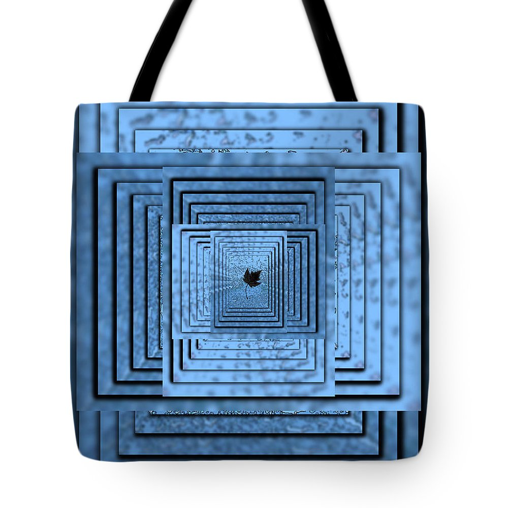 Abstract Tote Bag featuring the digital art In The Eye Of The Storm 6 by Tim Allen