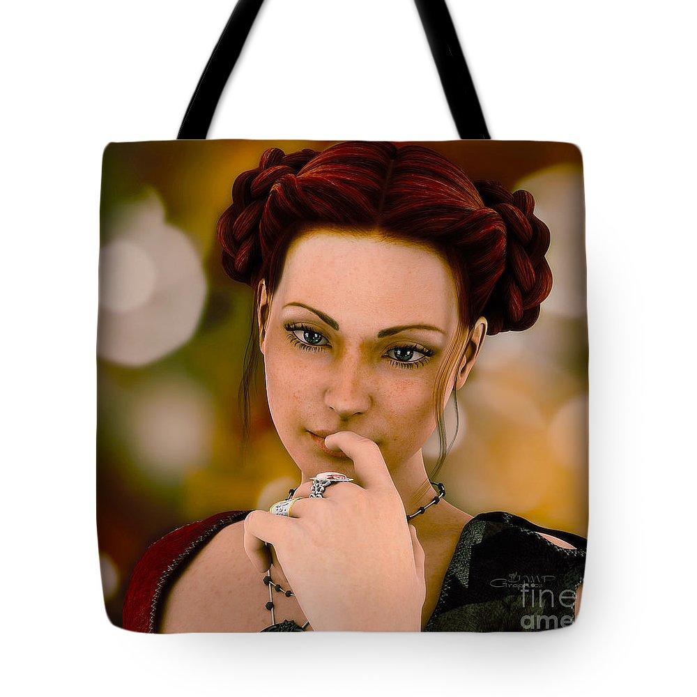 3d Tote Bag featuring the digital art In Thoughts by Jutta Maria Pusl