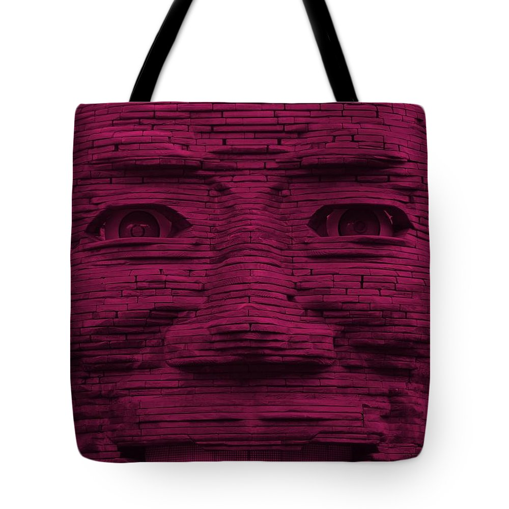 Architecture Tote Bag featuring the photograph In Your Face In Hot Pink by Rob Hans