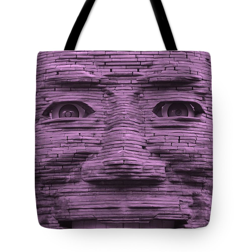 Architecture Tote Bag featuring the photograph In Your Face In Light Pink by Rob Hans