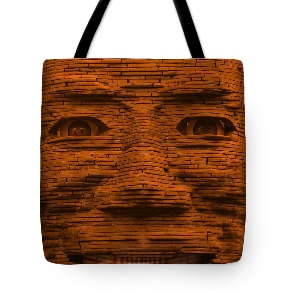 Architecture Tote Bag featuring the photograph In Your Face In Orange by Rob Hans