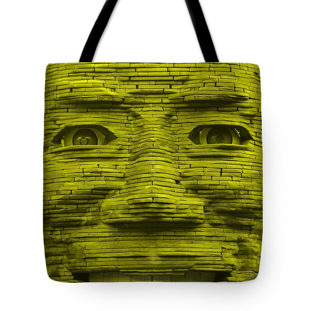 Architecture Tote Bag featuring the photograph In Your Face In Yellow by Rob Hans