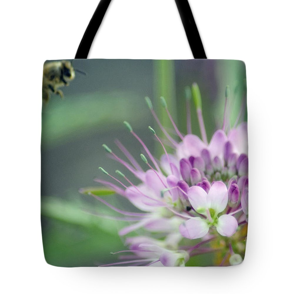 Bees Tote Bag featuring the photograph Incoming Bee by Donna Greene
