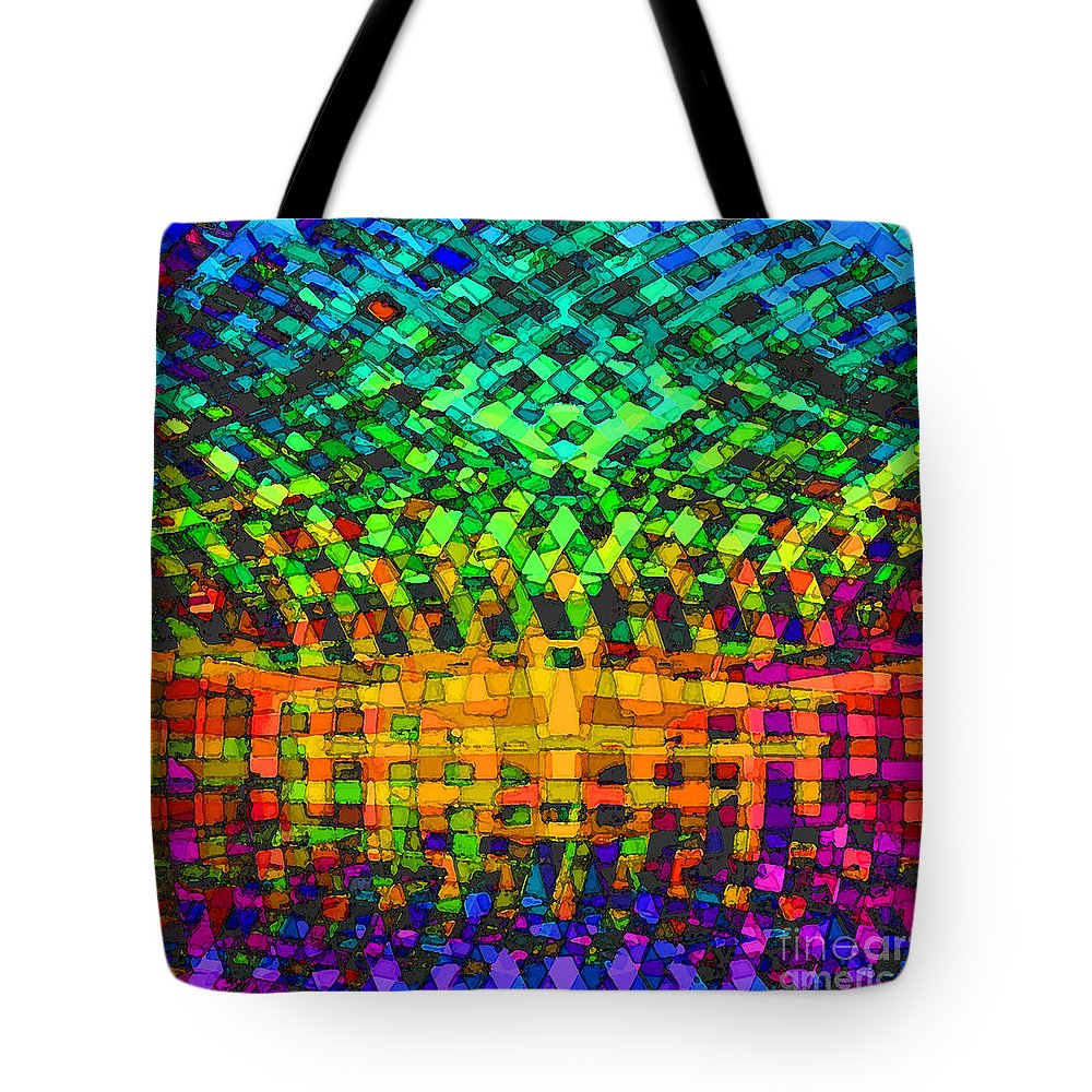 Abstract Tote Bag featuring the digital art Incurvature by ME Kozdron