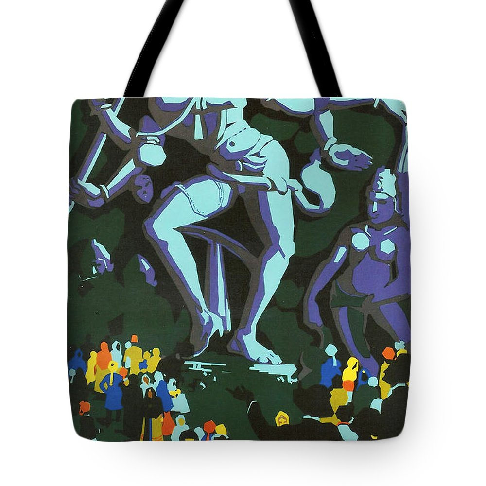 Agra Tote Bag featuring the digital art India by Georgia Fowler