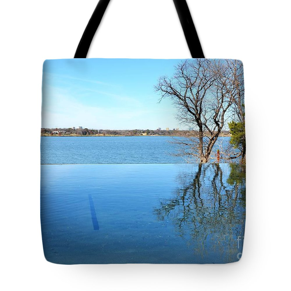 Water Tote Bag featuring the photograph Infinity by Debbi Granruth