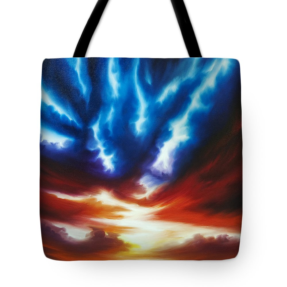 Color Tote Bag featuring the painting Infinity II by James Christopher Hill