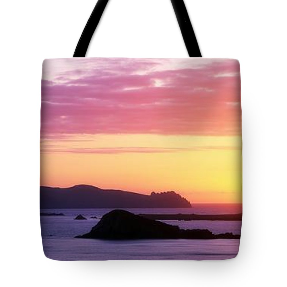 Atmospheric Tote Bag featuring the photograph Inishtookert Island Blasket Islands, Co by The Irish Image Collection