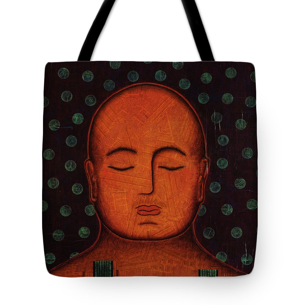 Buddha Tote Bag featuring the painting Inner Visions by Gloria Rothrock