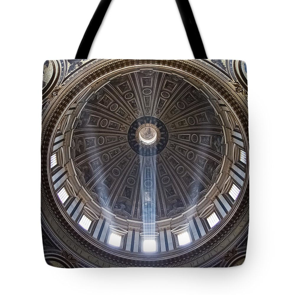 Rome Tote Bag featuring the photograph Inside St. Peter's Basicilia by Roger Mullenhour