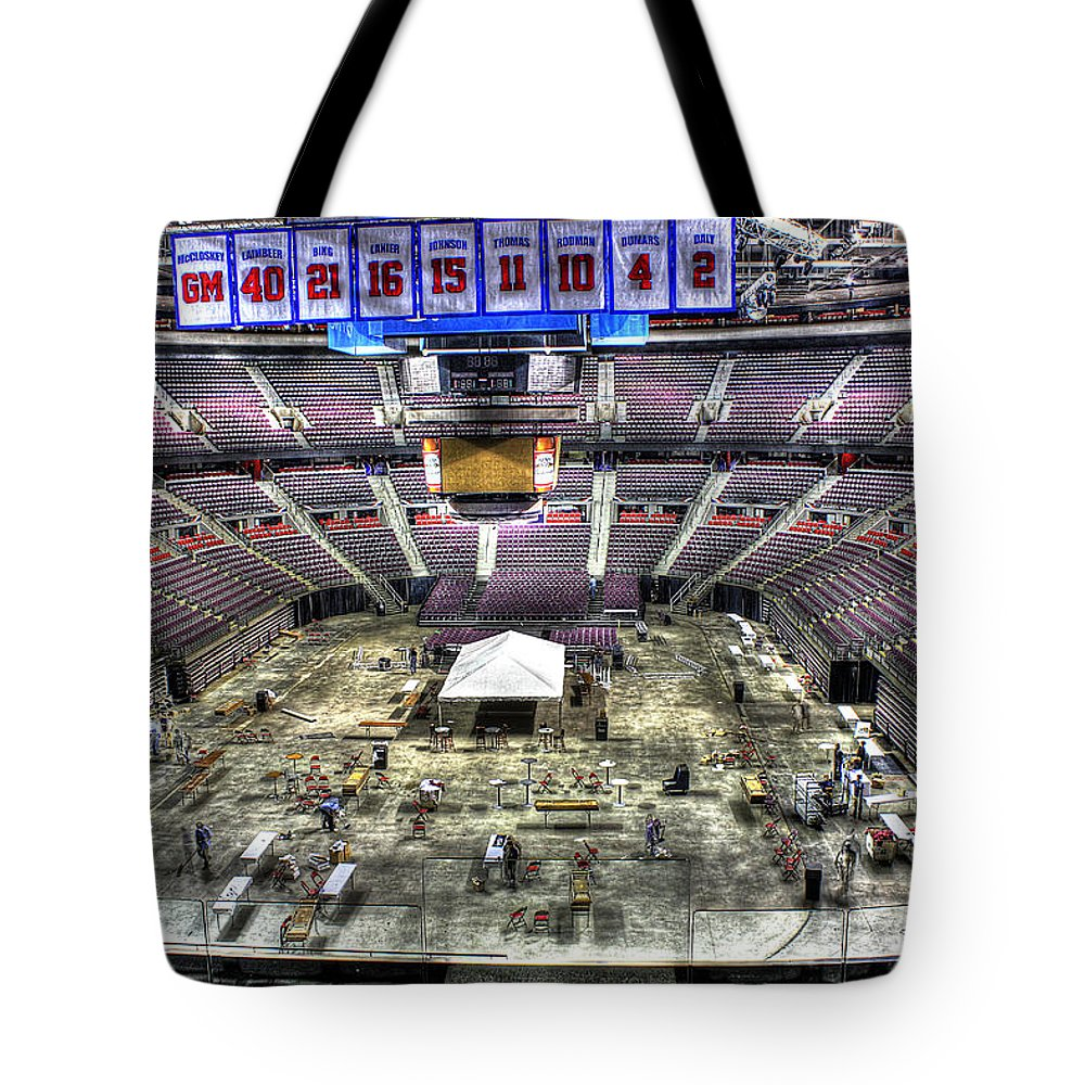 Tote Bag featuring the photograph Inside The Palace Of Auburn Hills 2 by Nicholas Grunas