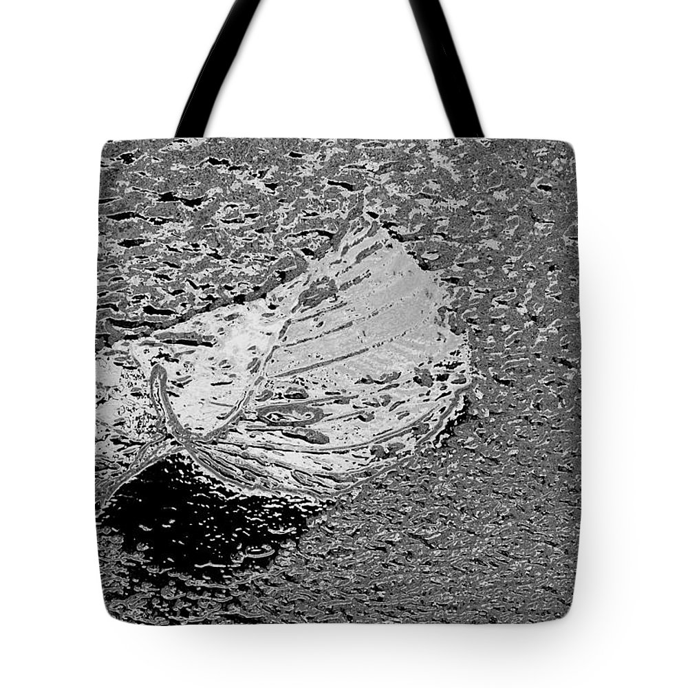 Leaf Tote Bag featuring the photograph Inspired Mytallique by Marie Jamieson