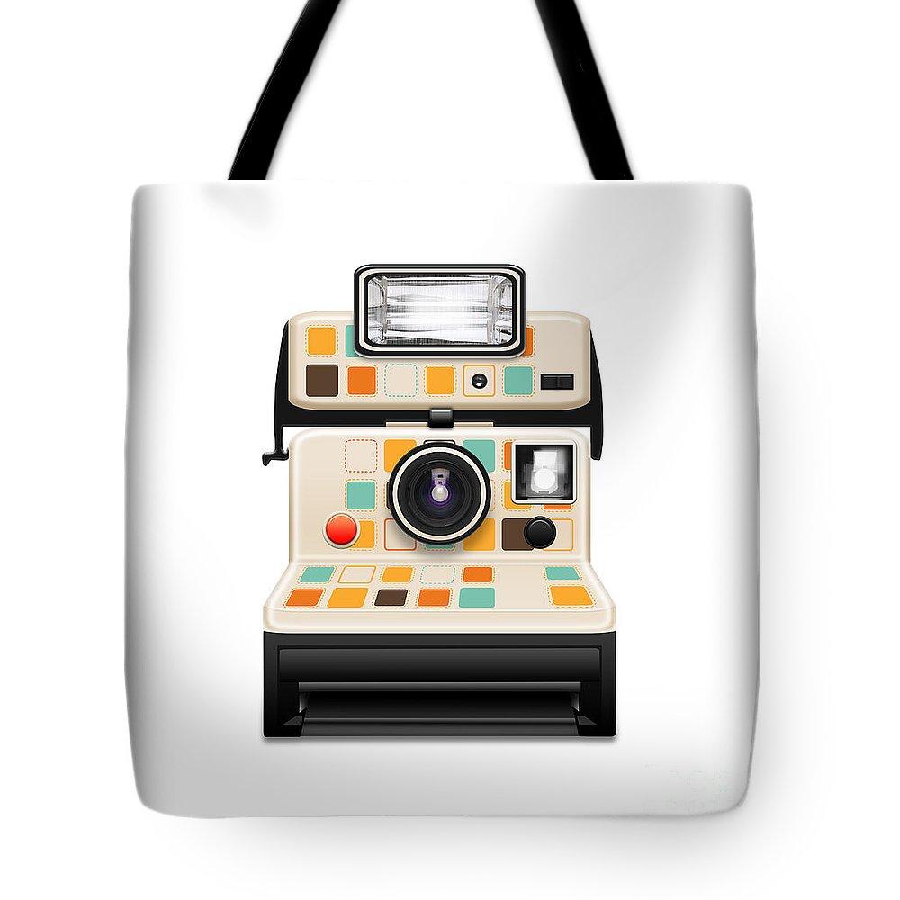 Analog Tote Bag featuring the photograph Instant Camera by Setsiri Silapasuwanchai