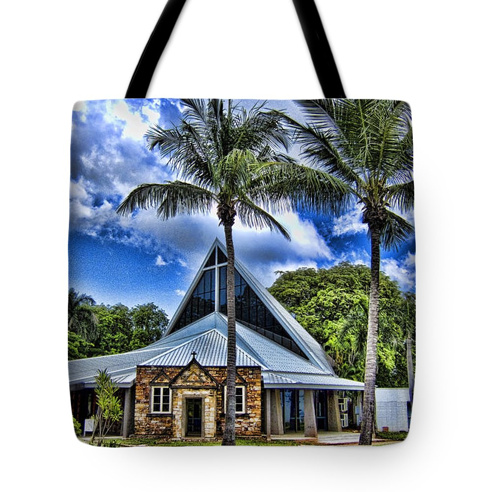 Anglican Tote Bag featuring the photograph Integrated Old And New by Douglas Barnard