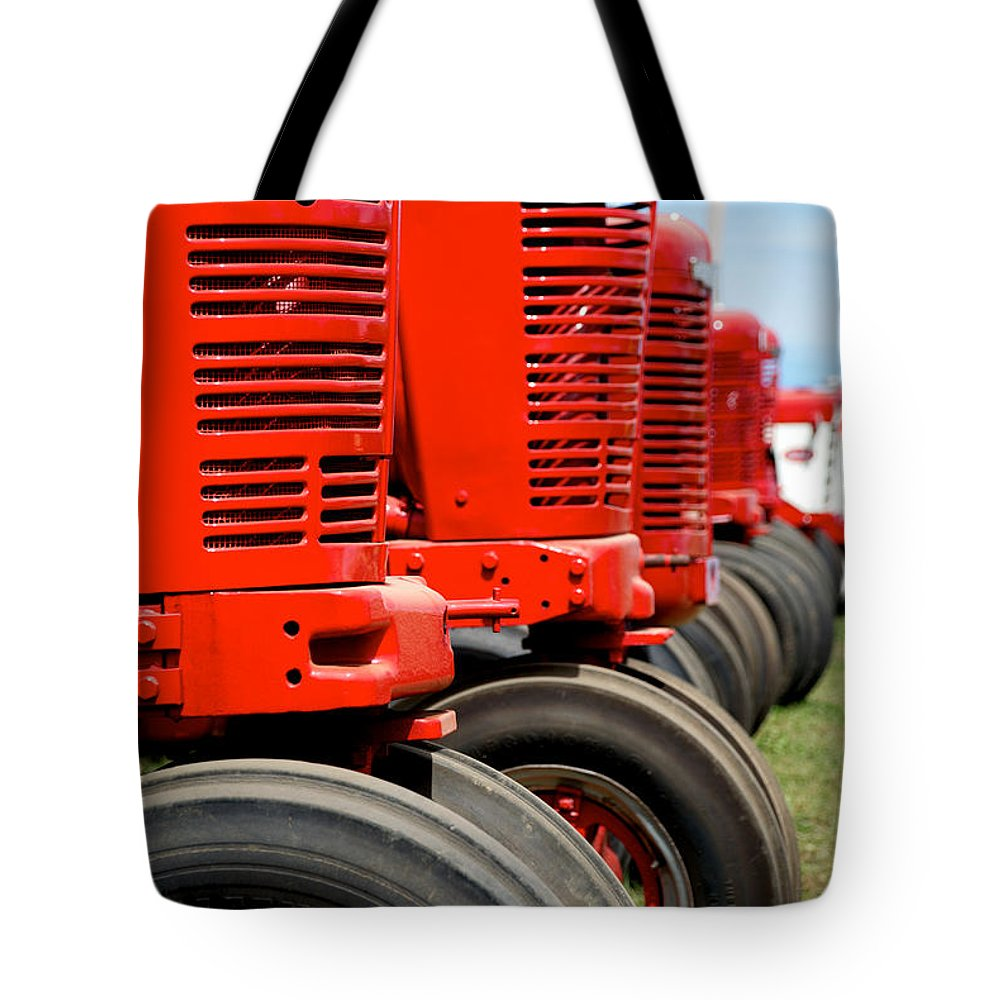Arcadia Volunteer Fire Company Tote Bag featuring the photograph International Farmall 2 by Mark Dodd