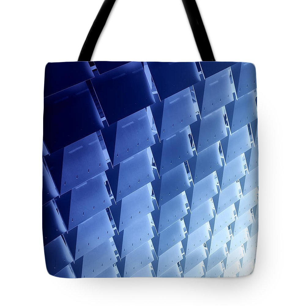 Blue Tote Bag featuring the photograph Into The Blue by Wayne Sherriff