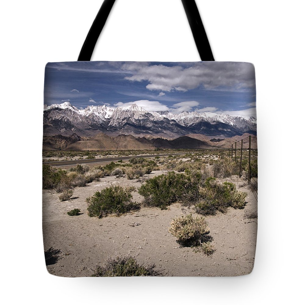 Into The Sierras Tote Bag featuring the photograph Into The Sierras by Wes and Dotty Weber