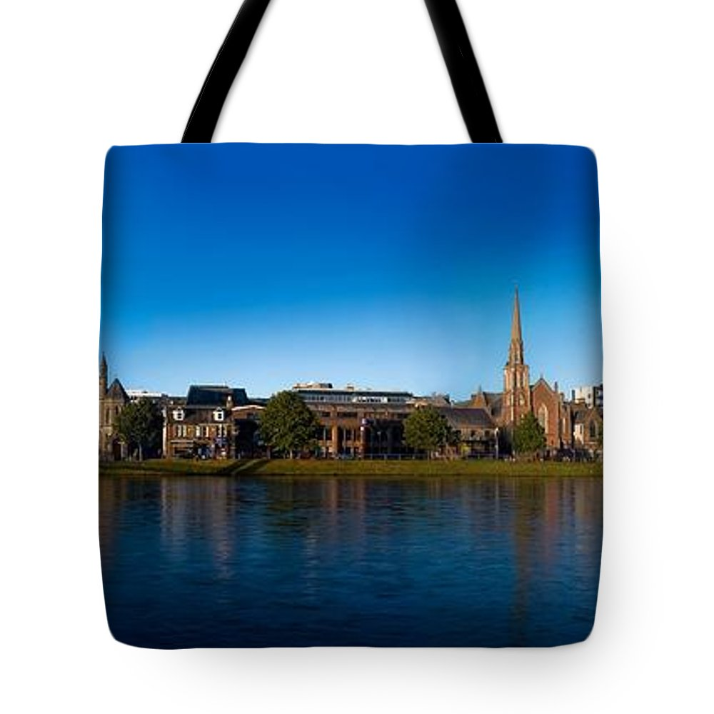Inverness Tote Bag featuring the photograph Inverness Waterfront by Joe Macrae