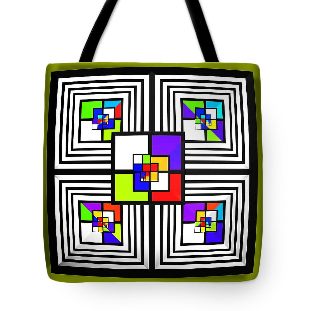 Diamond Tote Bag featuring the painting Invisible Diamond by Charles Stuart