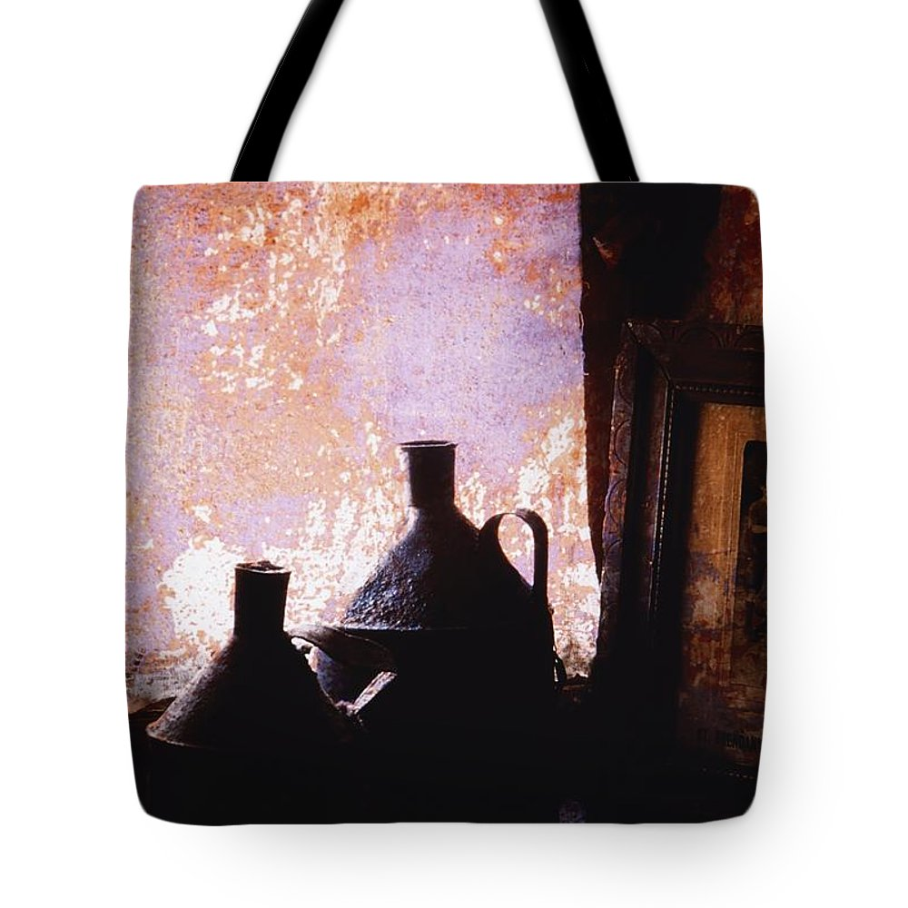 Frame Tote Bag featuring the photograph Ireland Jars Of Paraffin by Richard Cummins