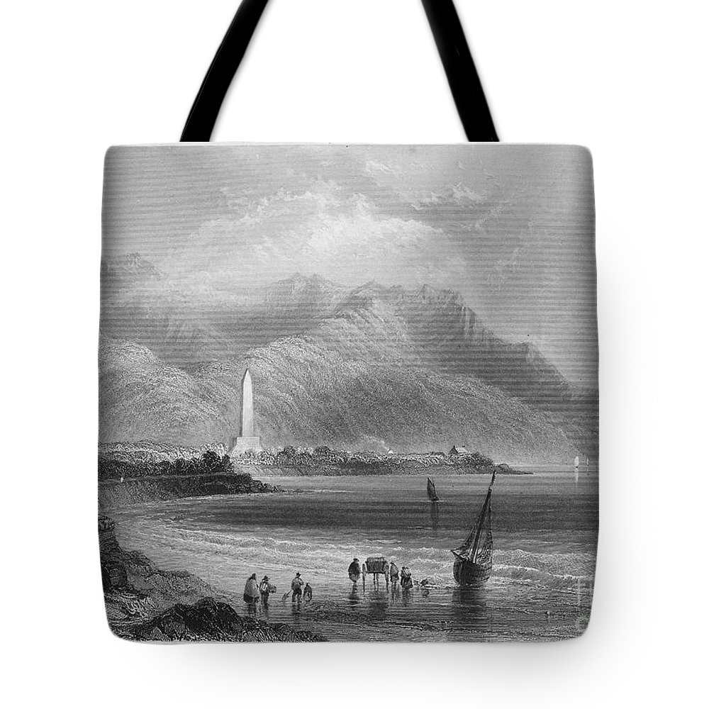 1840 Tote Bag featuring the photograph Ireland: Rostrevor, C1840 by Granger