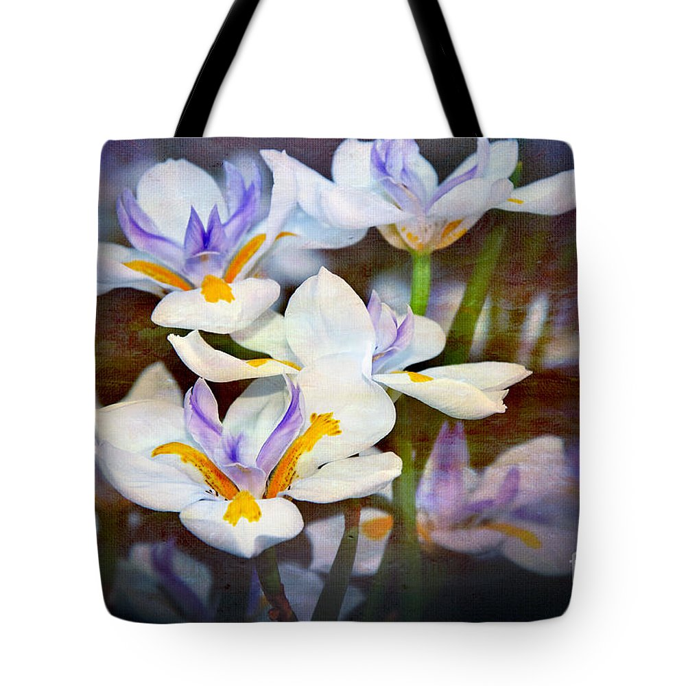 Photography Tote Bag featuring the photograph Iris Art by Kaye Menner