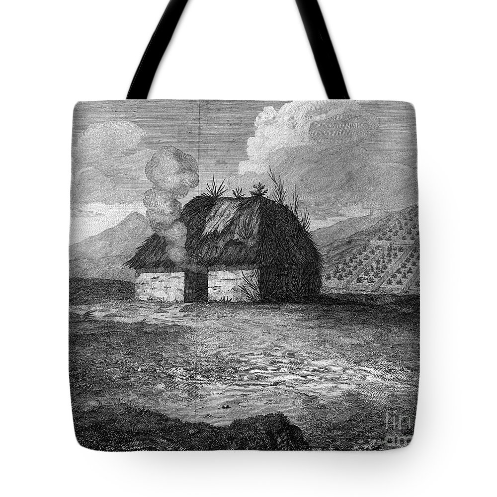 18th Century Tote Bag featuring the photograph Irish Cabin, 18th Century by Granger