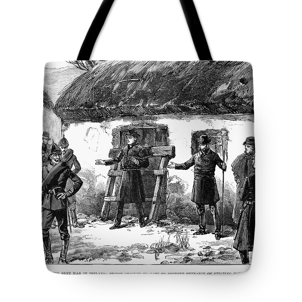 1887 Tote Bag featuring the photograph Irish Land League, 1887 by Granger