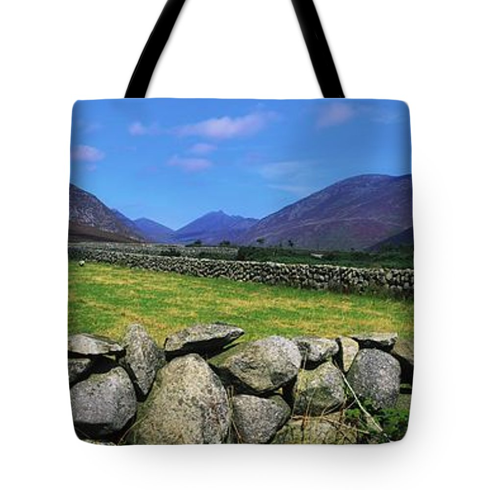 Co Wicklow Tote Bag featuring the photograph Irish Snow Scenes, Co Wicklow by The Irish Image Collection