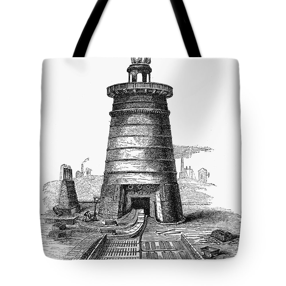 1855 Tote Bag featuring the photograph Iron Smelting, C1855 by Granger
