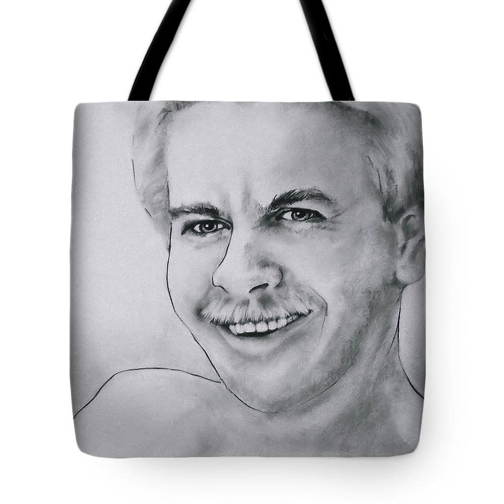 Man Tote Bag featuring the drawing Irrepressible by Rory Sagner
