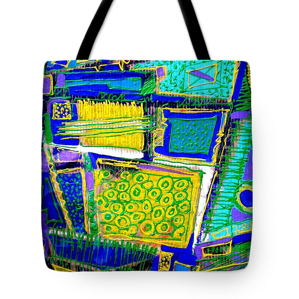 Abstract Tote Bag featuring the painting It Doesnt Matter How The Paint Is Put On As Long As Something Is Said by John Nolan