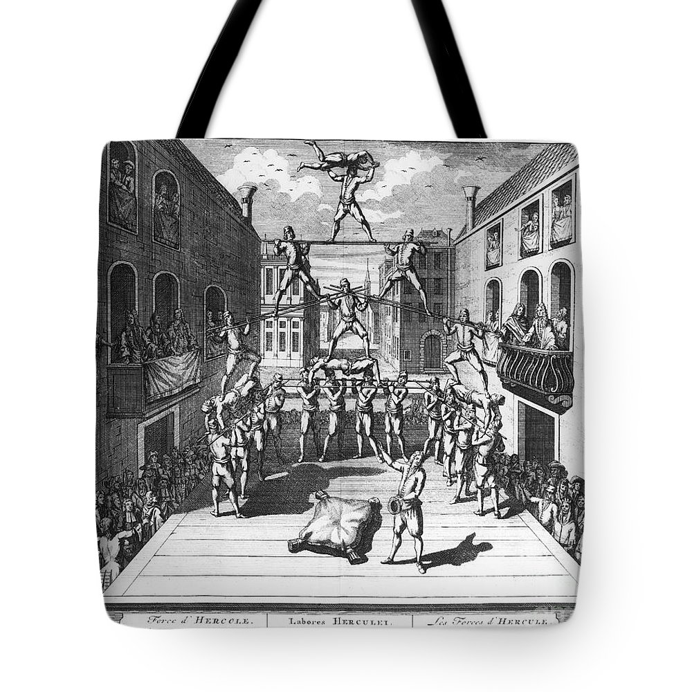 1722 Tote Bag featuring the photograph Italy: Acrobats, C1722 by Granger