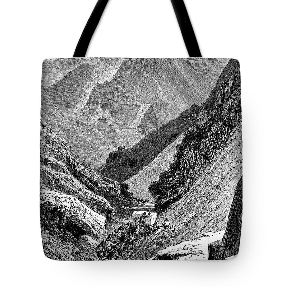 1875 Tote Bag featuring the photograph Italy: Carrara Mountains by Granger