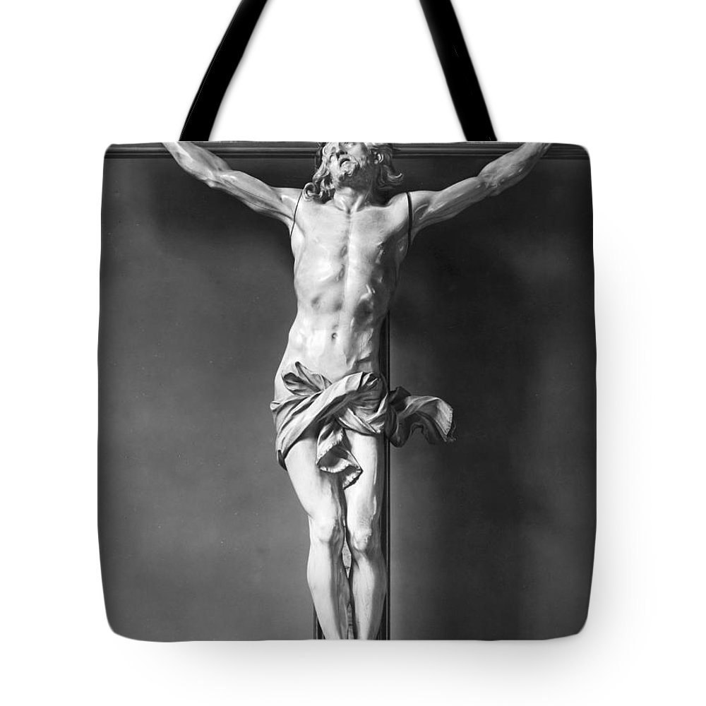 16th Century Tote Bag featuring the photograph Ivory Crucifix by Granger