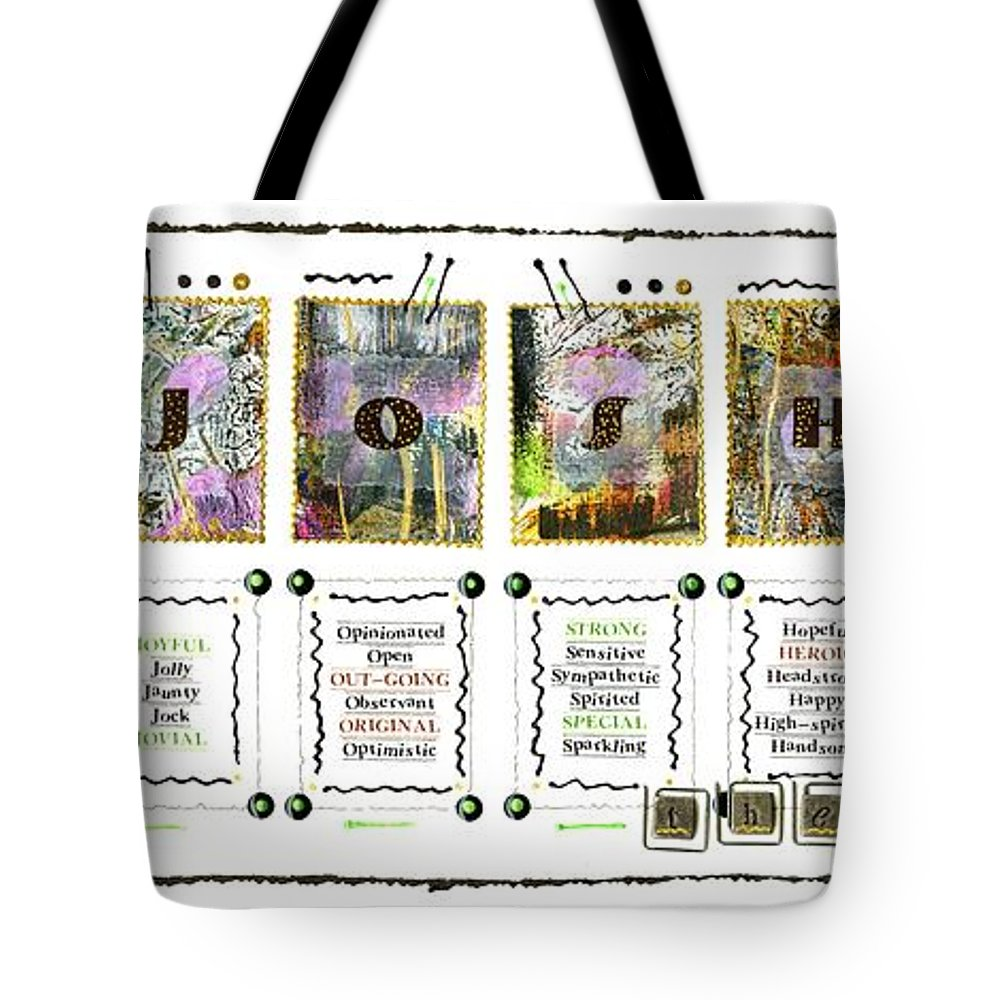 Tote Bag featuring the photograph J Is For Josh-the-artist by Angela L Walker