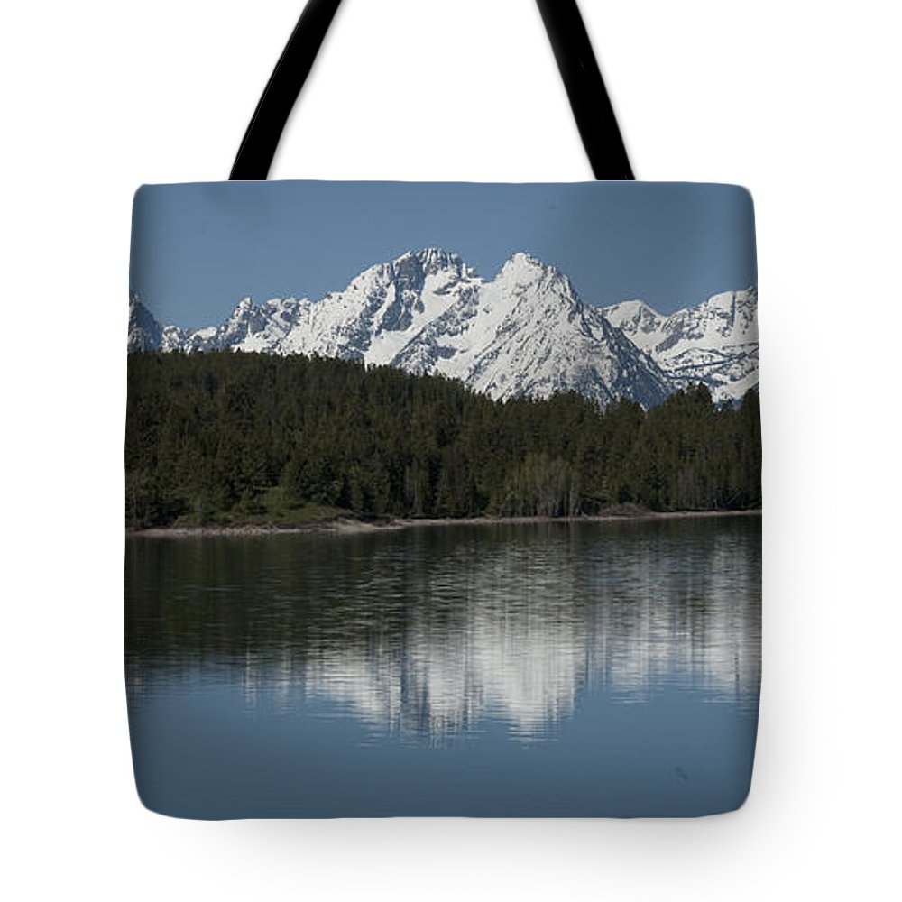 Bronstein Tote Bag featuring the photograph Jackson Lake by Sandra Bronstein