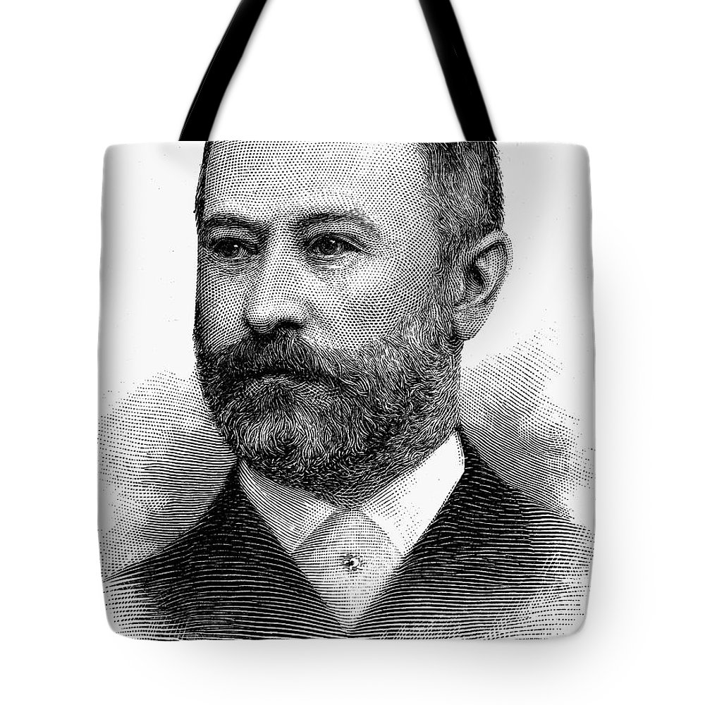 1891 Tote Bag featuring the photograph Jacob Henry Schiff by Granger