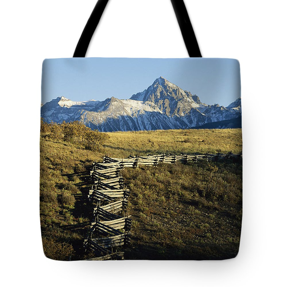North America Tote Bag featuring the photograph Jagged Peaks Of Dallas Divide, San Juan by Michael S. Lewis