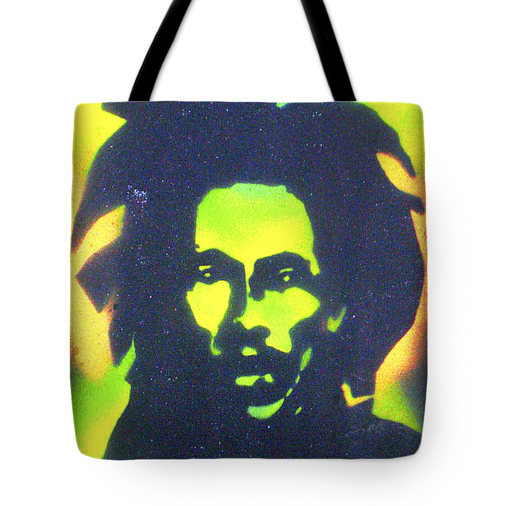 Hip Hop Tote Bag featuring the painting Jamaica X Jamaica by Tony B Conscious