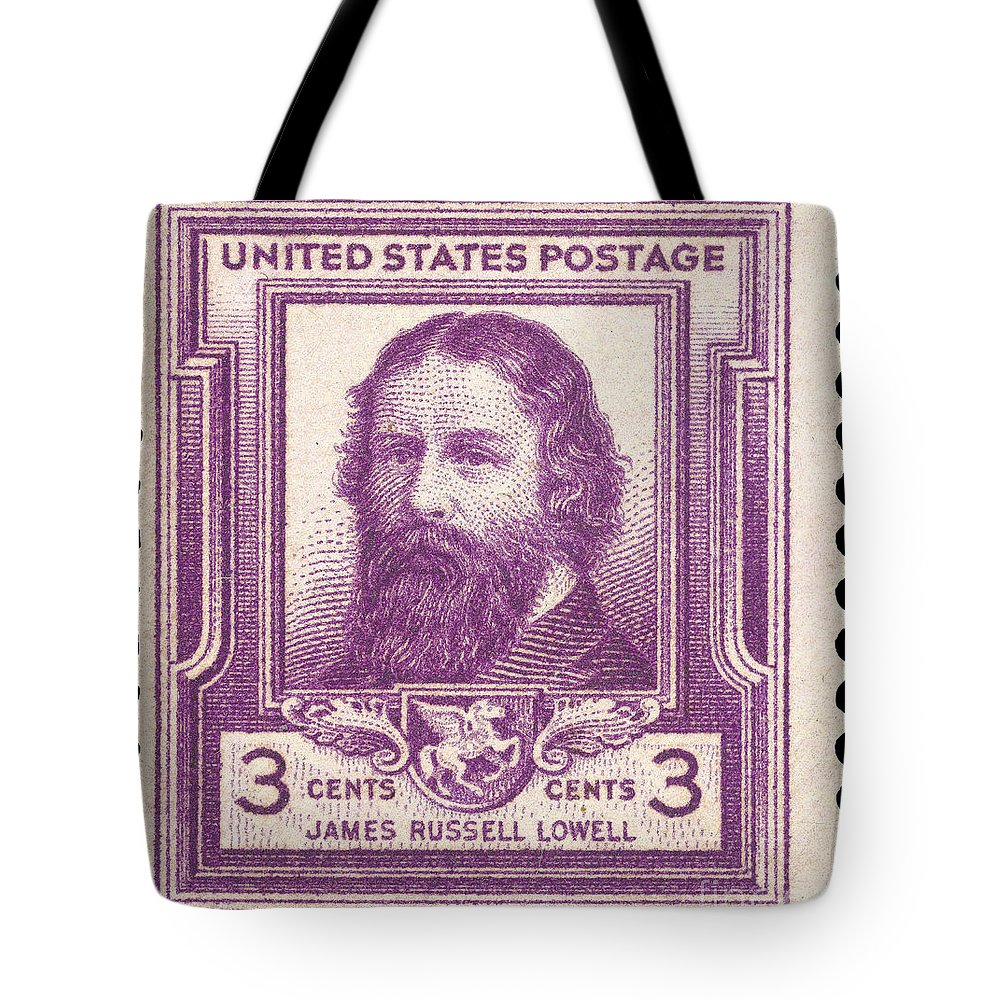 1940 Tote Bag featuring the photograph James Russell Lowell by Granger