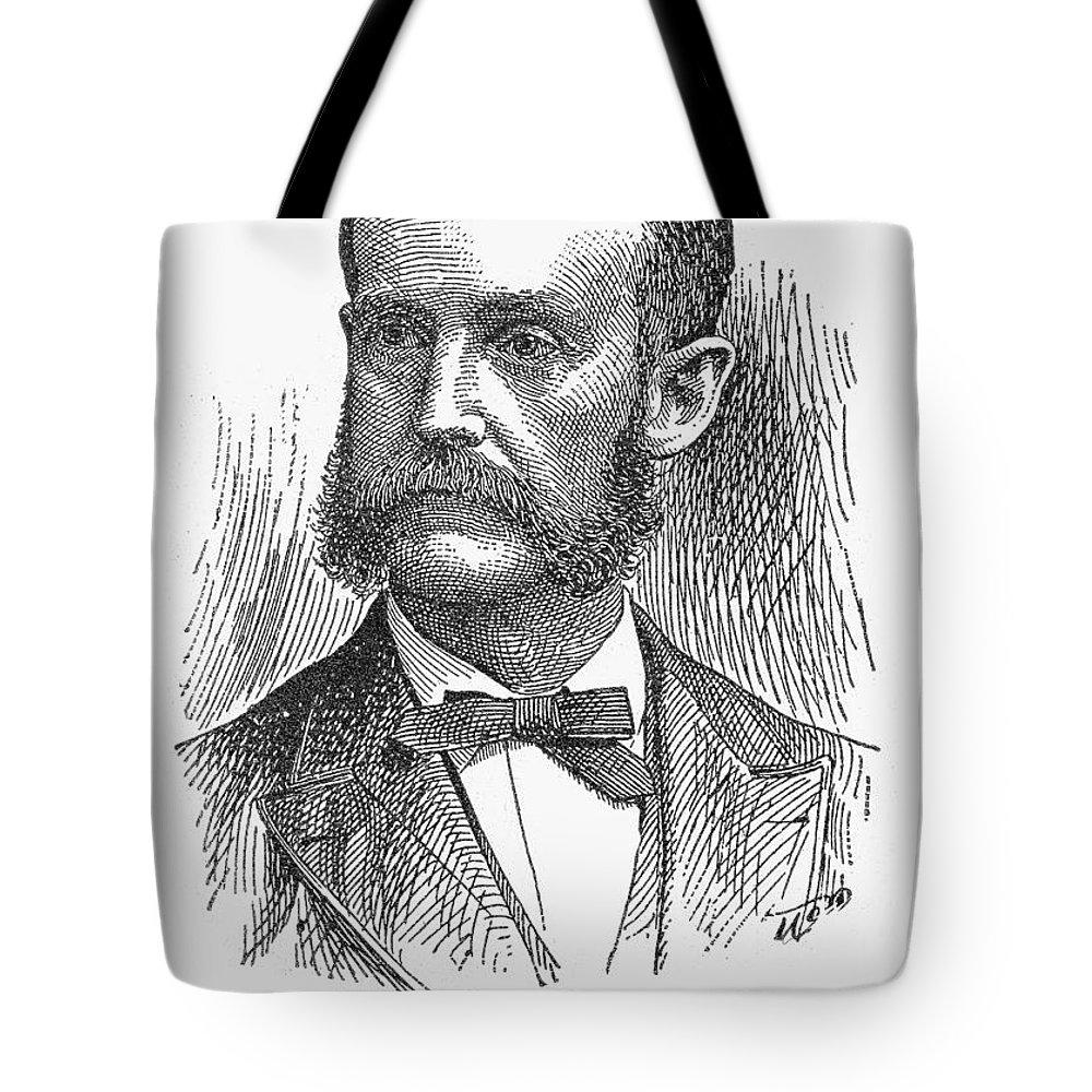 19th Century Tote Bag featuring the photograph James Russell Miller by Granger