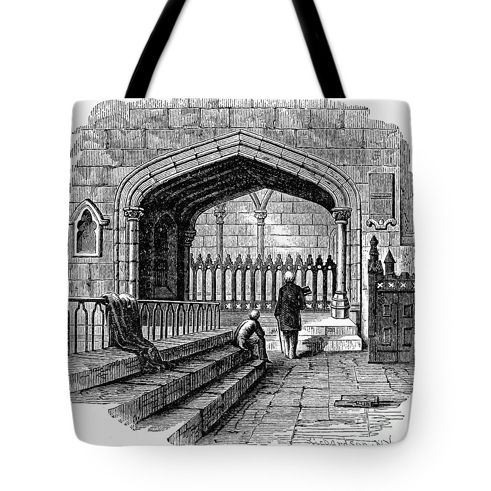 19th Century Tote Bag featuring the photograph James Watt: Tomb, 1819 by Granger