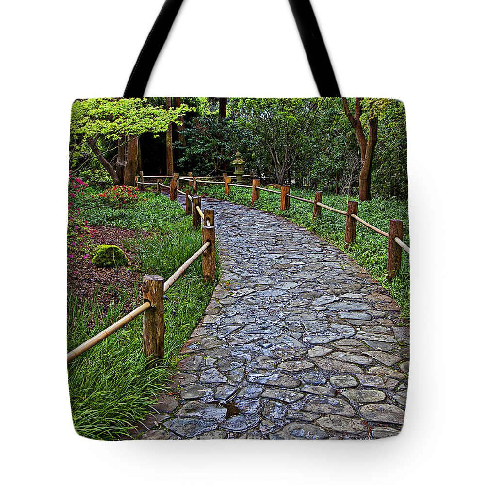 Japanese Tea Garden Path Tote Bag featuring the photograph Japanese Tea Garden Path by Garry Gay