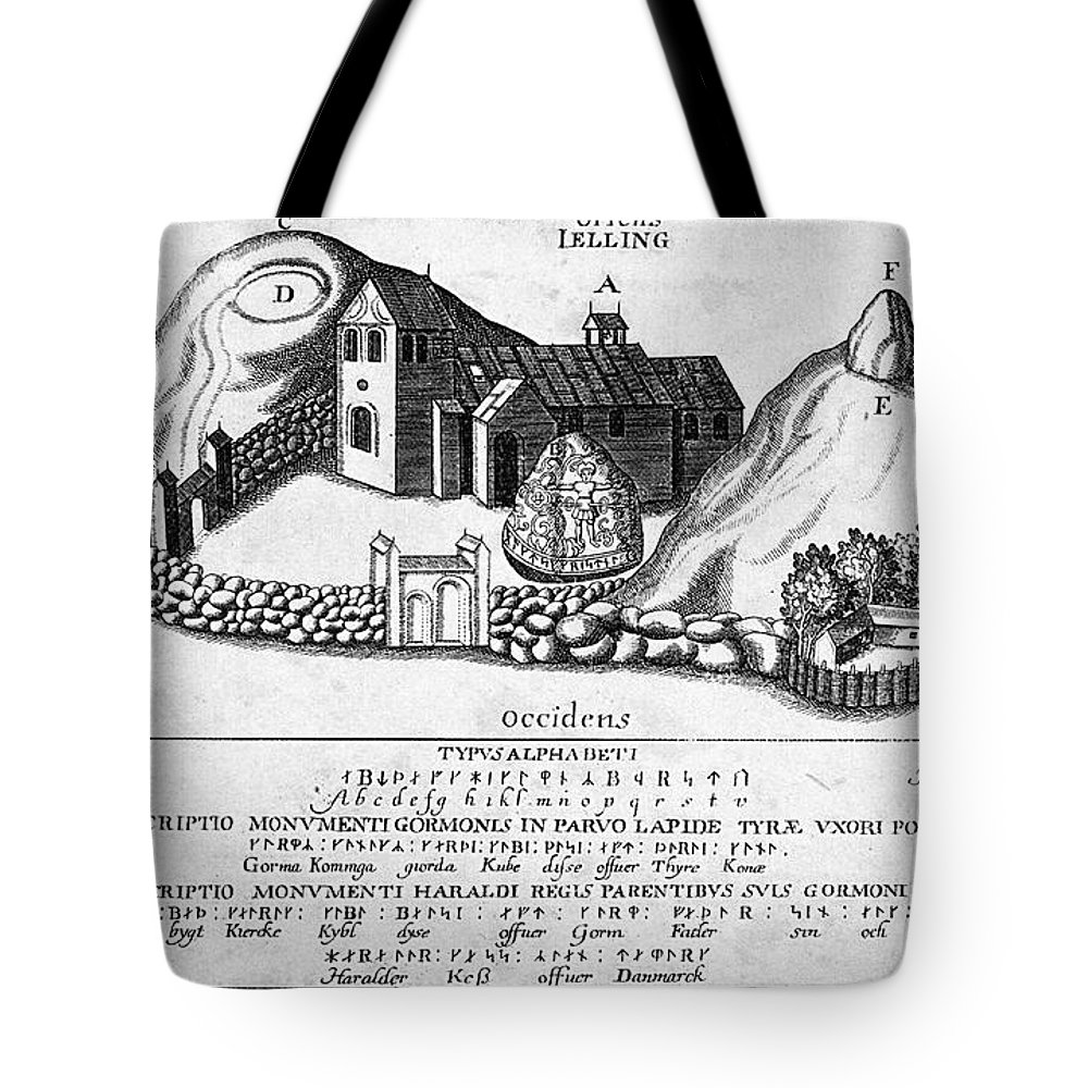1591 Tote Bag featuring the photograph Jelling Monuments, C960 by Granger