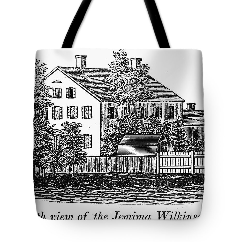 19th Century Tote Bag featuring the photograph Jemima Wilkinson by Granger