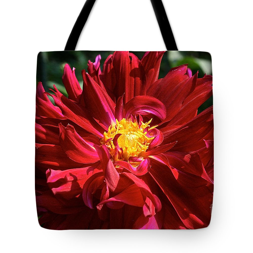 Flower Tote Bag featuring the photograph Jennifer's Wedding Dahlia by Susan Herber
