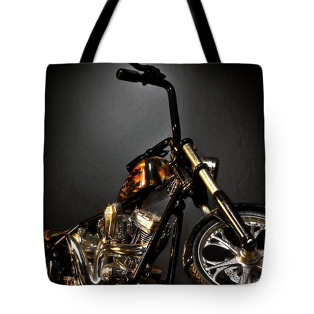 Tote Bag featuring the photograph Jesse James Bike 2 Detroit Mi by Nicholas Grunas